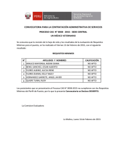 Resultados de Requisitos Mínimos
