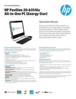 HP Pavilion 20-b354la All-in-One PC