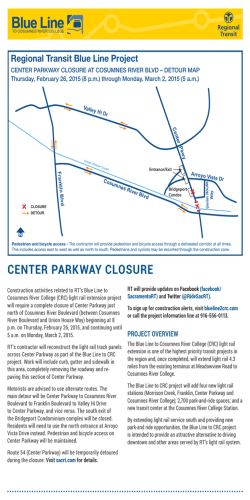 CENTER PARKWAY CLOSURE
