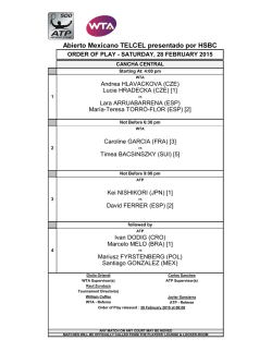 Order of Play - ATP World Tour