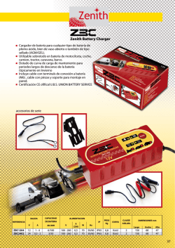 Zenith Battery Charger