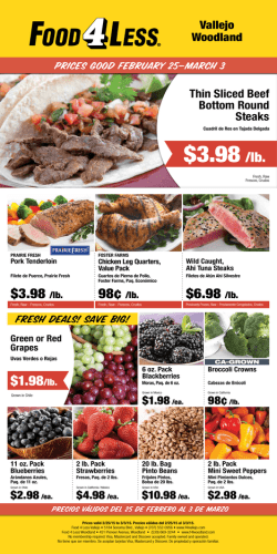 $3.98 /lb. - Food 4 Less Vallejo