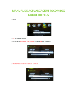 manual de actualización tocombox goool hd plus