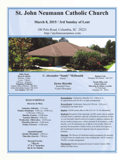 Bulletin 3-8 - St. John Neumann Catholic Church