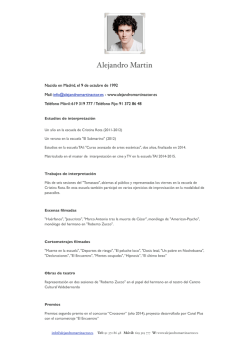 descargar cv - Alejandro Martin, actor