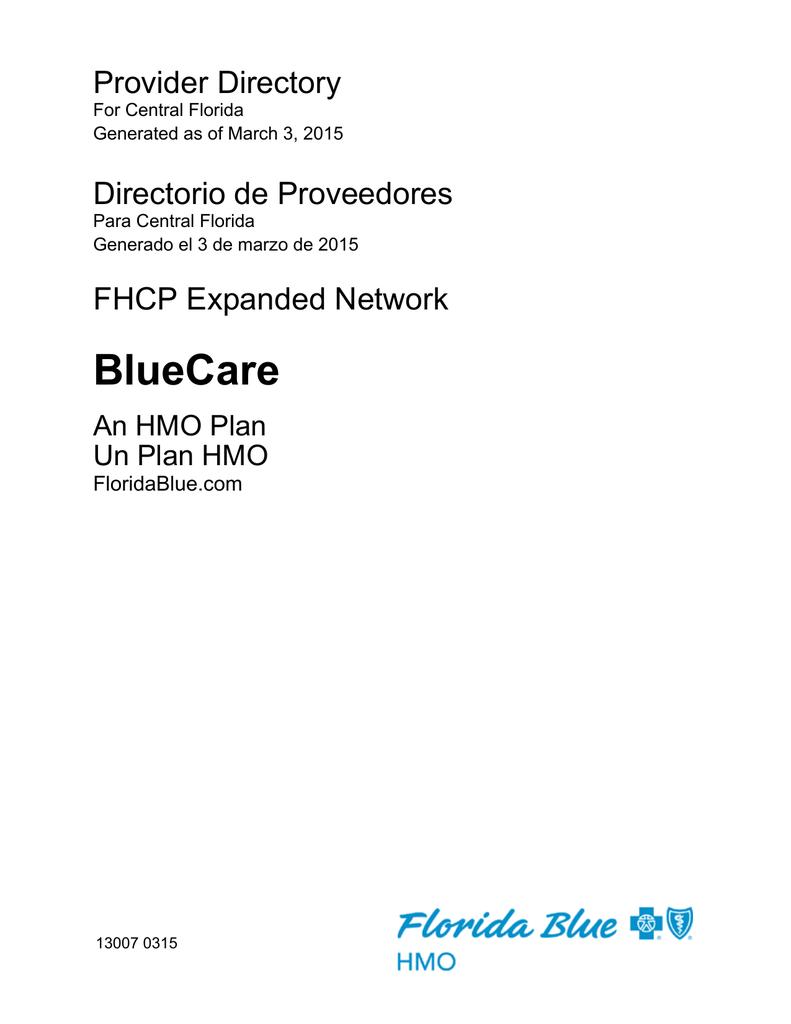 bluecare florida health care plans