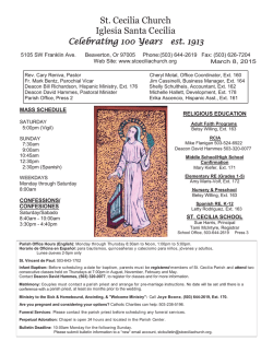 Bulletin - Catholic Printery