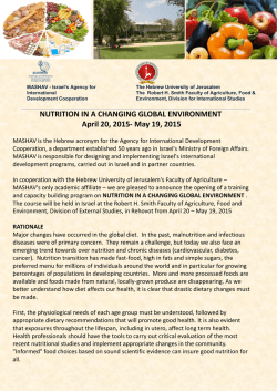 NUTRITION IN A CHANGING GLOBAL ENVIRONMENT