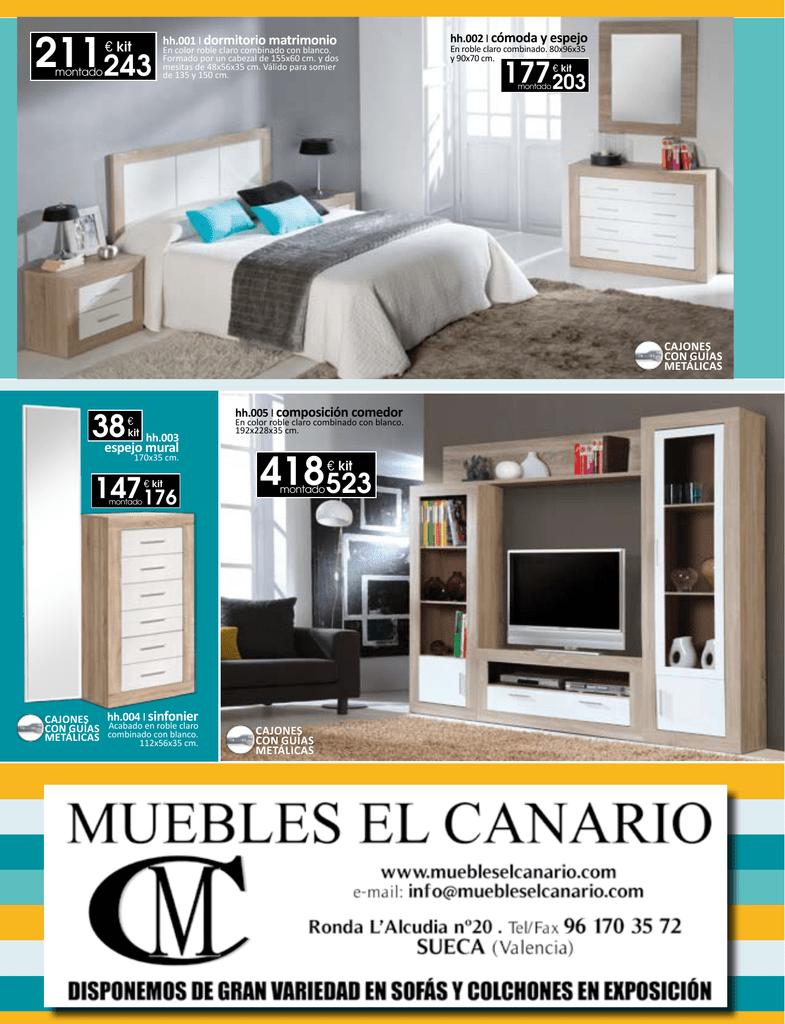 Muebles El Canario Sueca Trendy Hvg Colchn Cm Firme Sph Precio  # Muebles El Canario