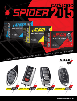 Catalogo Spider 2015