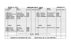 calendario (schedule) - Hispano Soccer League