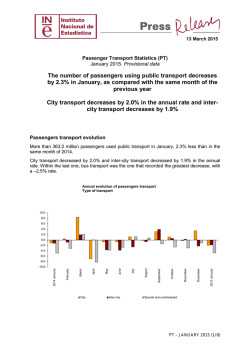 Passenger Transport Statistics. PTPT. January 2015. The number of