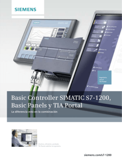 Basic Controller SIMATIC S7-1200, Basic Panels y TIA