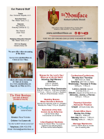Weekly Bulletin - St. Boniface Roman Catholic Church