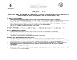 REQUISITOS PARA LA MATRICULA