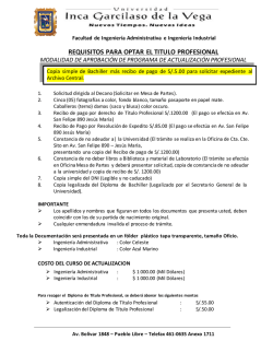REQUISITOS PARA OPTAR EL TITULO PROFESIONAL