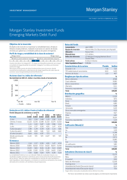 Morgan Stanley Investment Funds Emerging Markets Debt Fund