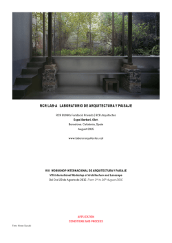 VIII WORKSHOP INTERNACIONAL DE ARQUITECTURA Y
