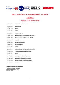 Agenda Final YBT 2014 - Young Business Talents