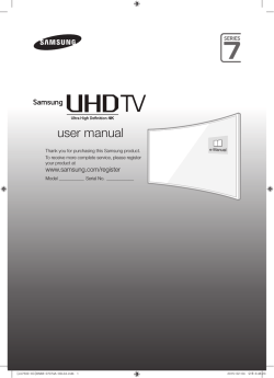 user manual - Outlet Electrodomésticos