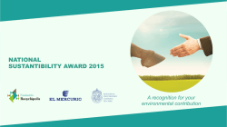 NATIONAL SUSTANTIBILITY AWARD 2015