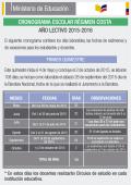 Cronograma Ciclo Costa 2015 – 2016