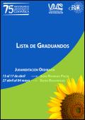 Lista de graduandos