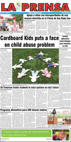 Cardboard Kids puts a face on child abuse problem