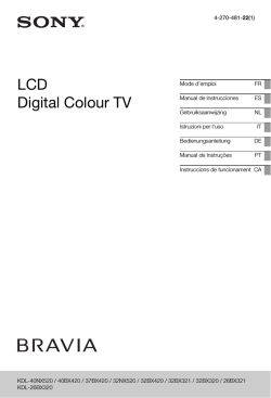 LCD Digital Colour TV - Migros