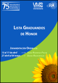 Lista graduandos de Honor. Abril