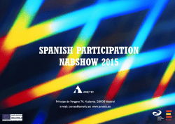 SPANISH PARTICIPATION NABSHOW 2015