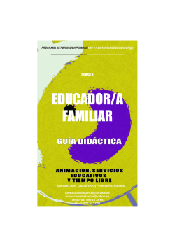 Curso Educador Familiar. Guia Didactica