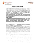 Propuesta Pedagógica - Colegio María de Las Mercedes