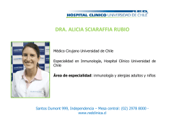dra. alicia sciaraffia rubio - Hospital Clínico Universidad de Chile