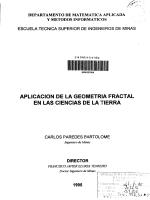 aplicación de la geometría fractal en las ciencias de la tierra