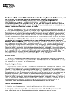 Resolución Convocatoria