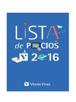 Lista de precios - Editorial Vicens Vives