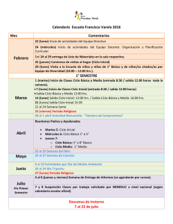 Calendario - Escuela Francisco Varela