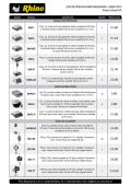 Lista de Precios Rhino Maquinaria