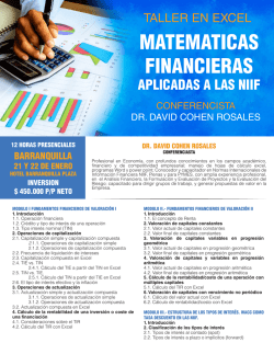 MATEMATICAS FINANCIERAS - gestion integral academica