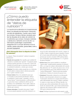 """datos de nutrición""? - American Heart Association"