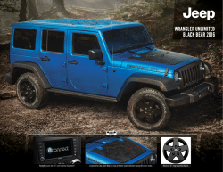 WRANGLER UNLIMITED BLACK BEAR 2016