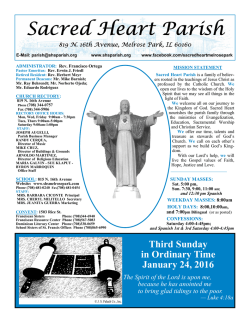 January 24, 2016 - Sacred Heart Parish