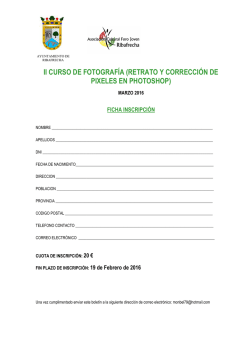 FICHA INSCRIPCION CURSO FOTOGRAFIA DIGITAL