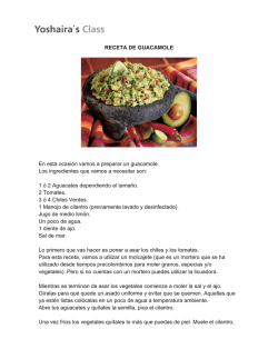 Transcription Receta Guacamole