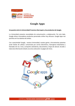 Google Apps - Inicio - Universidad Francisco Marroquín