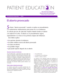 aborto provocado - American College of Obstetricians and