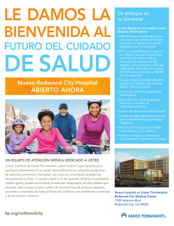 Kaiser Permanente: Redwood City New Hospital Fact Sheet
