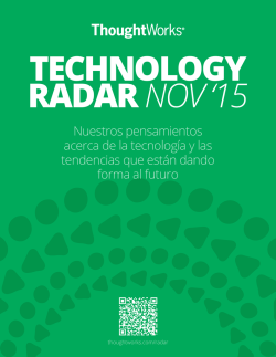 el radar - ThoughtWorks