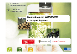 Crea tu blog con WORDPRESS y consigue ingresos